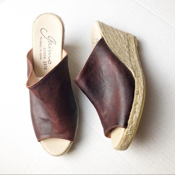 23df34a83274 Gaimo Shoes - New Gaimo Gossa Espadrille Wedge Brown 9